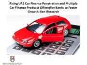 Rising UAE Car Finance Penetration and Multiple Car