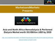 Asia and North Africa Hemodialysis & Peritoneal Dialysis Market