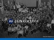 Best College in Bangalore  - Jain College