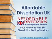Affordable Dissertation UK - Best Dissertation Writing Services