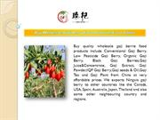Buy Wholesale Goji Berry Food Products From China - BerryGoji.com