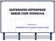 QuickBooks Enterprise Error Code 80029C4A