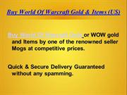 Buy World Of Warcraft Gold & Items