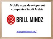 Mobile apps development companies Saudi Arabia