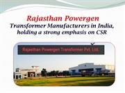 Rajasthan Powergen - Transformer Manufacturers in India, holding a str