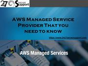 AWS Managed Service Provider That you need to know