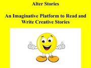 Alter Stories- An Imaginative Platform to Write Stories