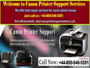 Fix 24*7 Your Canon Printer Errors @ +44-800-046-5291
