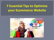 7 Essential Tips to Optimize your Ecommerce Website