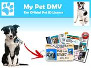 Official USA Made Drivers License ID For Dogs - My Pet DMV