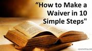 How to Make a Waiver in 10 Simple Steps