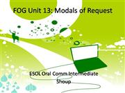 Unit 13 Modals of Request
