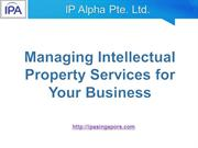 Managing Intellectual Property (IP) Services for Your Business