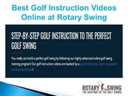 Online Golf Instruction Videos