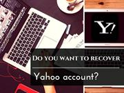 Do you want to recover Yahoo account?