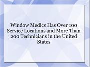 Window Medics Has Over 100 Service Locations
