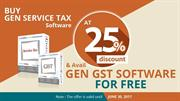 Buy GEN Service Tax Software and Get GEN GST Software Free