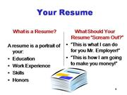 Resume Writing Steps