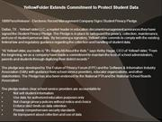 YellowFolder Extends Commitment to Protect Student Data