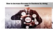 How to increase Revenue in Business by doing SEO
