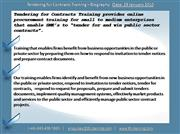Tendering for Contracts Training 1