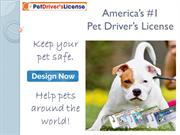 Pet Drivers License to help pets all around the world