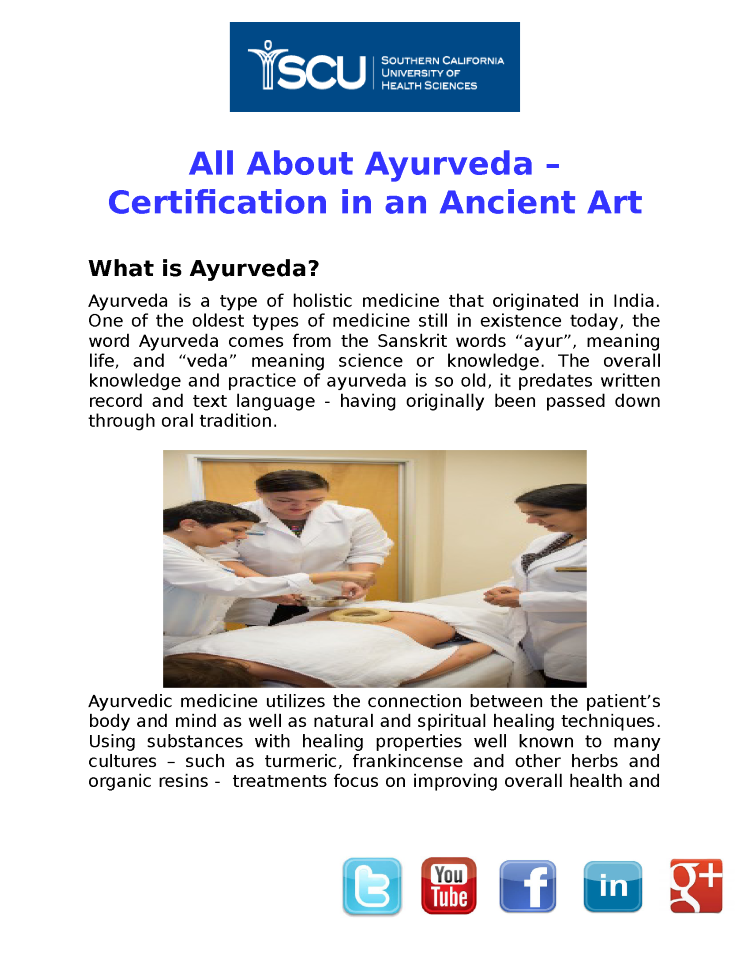 All about Ayurveda Certification Programs |authorSTREAM