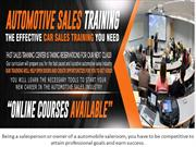 Auto Sales Training Companies