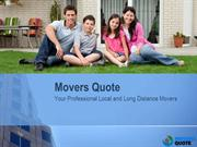 Movers Quote | Your Professional Local and Long Distance Movers