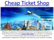 Online Booking Cheap International Flight Ticket On Cheap Ticket Shop