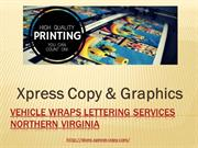 Vehicle Wraps Lettering Services Northern Virginia
