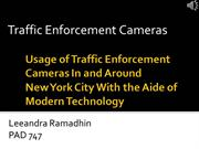 PPT PAD 747 - Traffic Enforcement Cameras