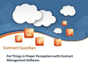 Put Things in Proper Perceptions with Contract Management Software