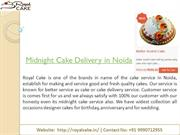 Best option to buy cake: Order online cake at midnight in noida