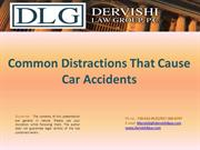 Common Distractions That Cause Car Accidents