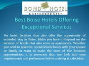 Best Boise Hotels Offering Exceptional Services