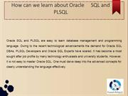 How -we-can-learn -Oracle SQl- and -PLSql