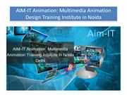 AIM-IT Animation Multimedia Animation Design Training Institute