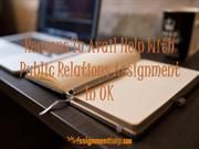Reasons To Avail Help With Public Relations Assignment In UK