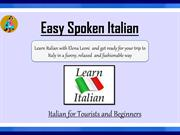 Learn the basics Of Italian Language with Easy Spoken Italian