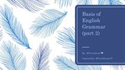 Basis of English Grammar PART2