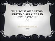 The Role of Custom Writing Services in Education