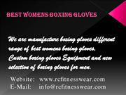Best Womens Boxing Gloves| Custom Boxing Gloves | RC Fitness Wear