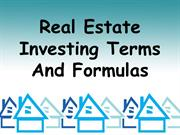 Randon Morris | Real Estate Investing Terms And Formulas