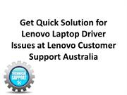 Get Quick Solution for Lenovo Laptop Driver Issues