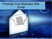 Promote Your Business With Email