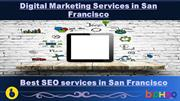 Digital marketing Services in San Francisco and SEO, SMO Services