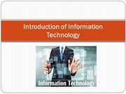 Introduction of Information Technology - WikKi Verma