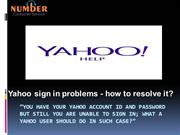 yahoo sign in problems - how to resolve it