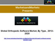 Global Orthopedic Software Market, By Type, 2012–2020